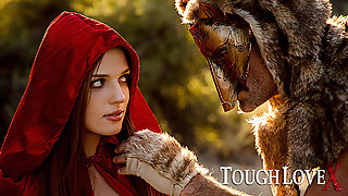 TOUGHLOVEX crimson railing rubber hood Scarlett meets Werestud